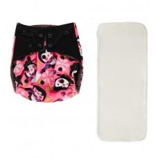 Многоразовый подгузник BAMBOOLA Premium fashion + 1 вкладыш (3-16 кг)