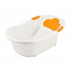 Детская ванночка с анатомической горкой и сливом ROXY-KIDS (оранжевая)