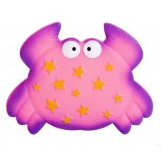 Мини-коврик для ванной комнаты КРАБИКИ (на присосах), цвета микс: оранжевый,фиолетовый, 1 шт