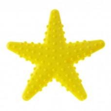 Мини коврик для ванной комнаты ЗВЕЗДА (на присосах),  голубой,желтый, шт